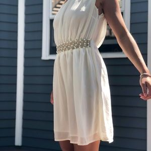 ASOS one shoulder dress with beading
